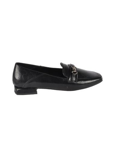 Mhd 142 Platin Kadın Günlük Ayakkabı Siyah